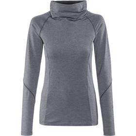 Maier Sports Cirra Sweat-shirt Stretch à col roulé Femme, graphit melange